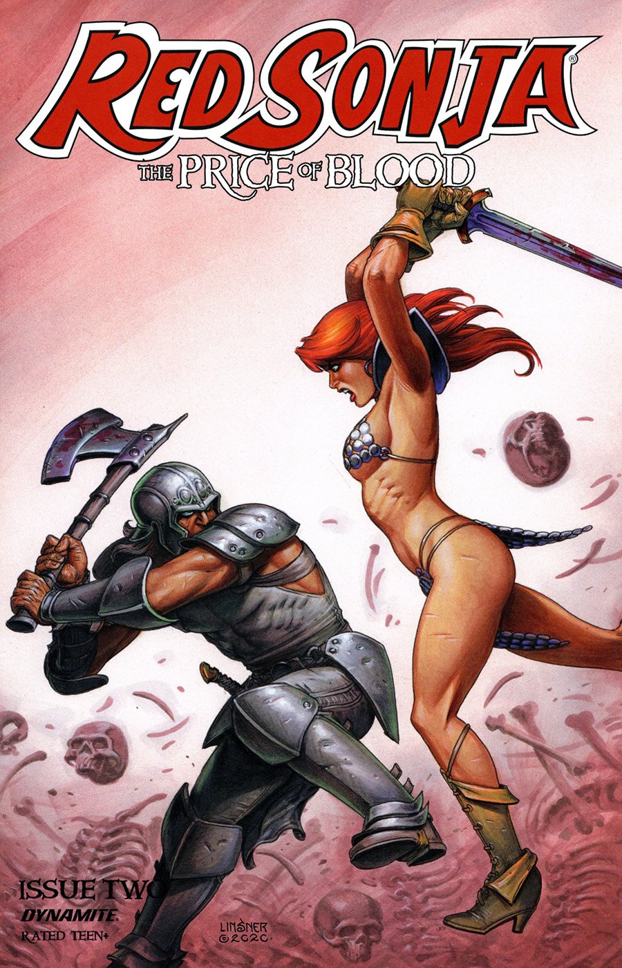 Red Sonja Price Of Blood #2 Cover C Variant Joseph Michael Linsner Cover