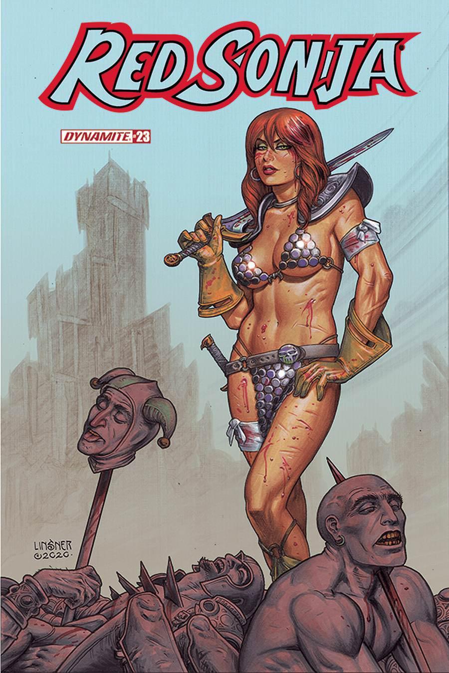 Red Sonja Vol 8 #23 Cover B Variant Joseph Michael Linsner Cover