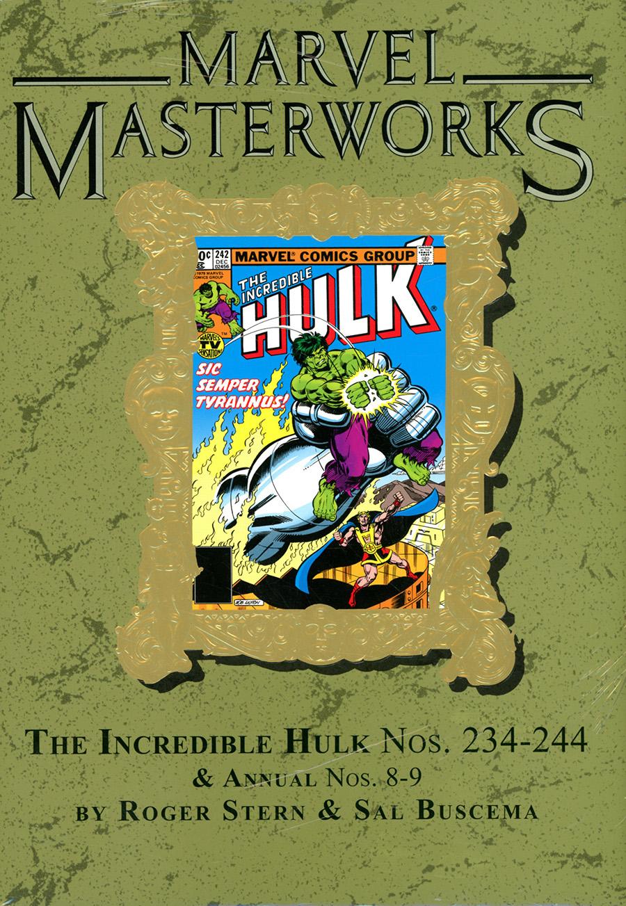 Marvel Masterworks Incredible Hulk Vol 15 HC Variant Dust Jacket