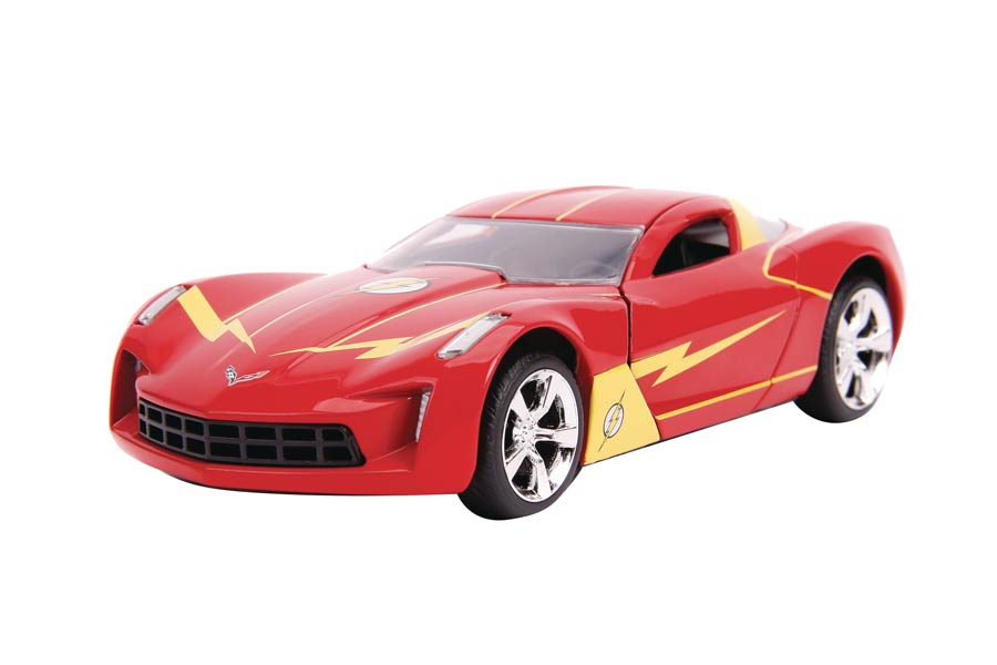 DC Heroes Hollywood Rides 1/32 Scale Die-Cast Vehicle - Flash 2009 Corvette Stingray