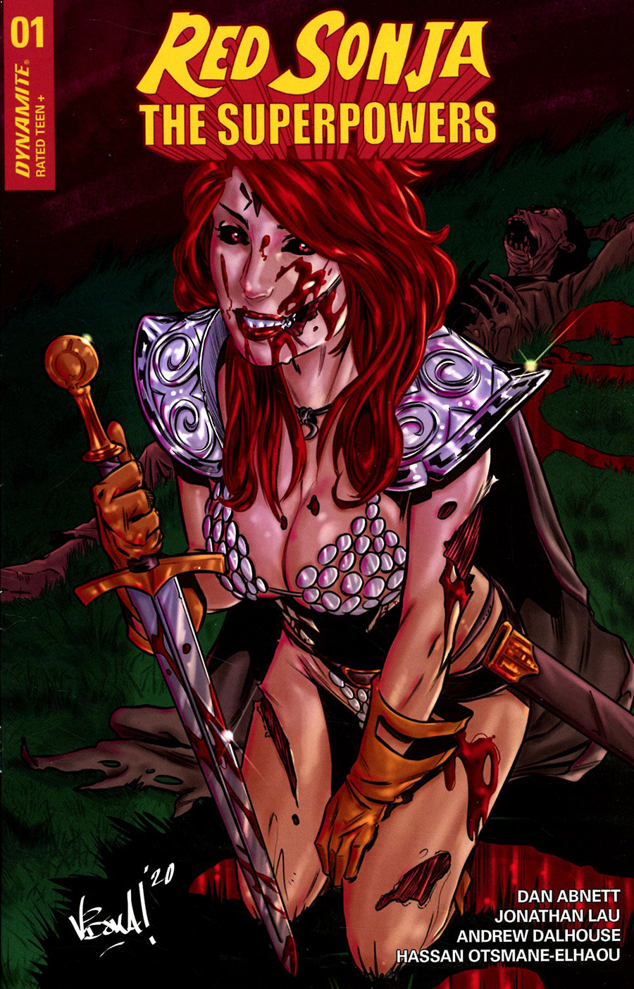 Red Sonja The Superpowers #1 Cover H Incentive Vincenzo Federici Zombie Variant Cover
