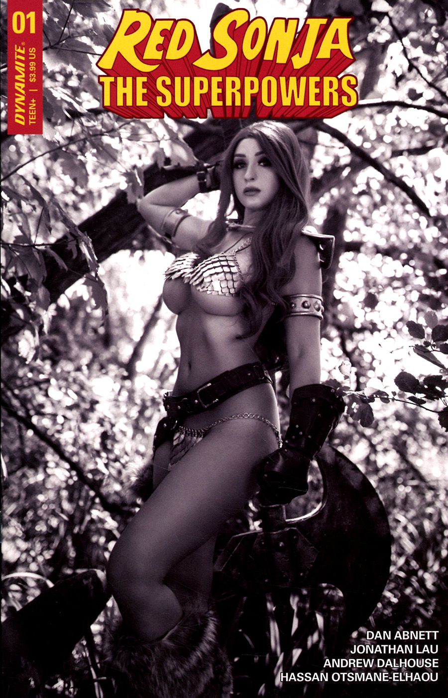 Red Sonja The Superpowers #1 Cover P Incentive Tabitha Lyons Cosplay Photo Black & White Cover