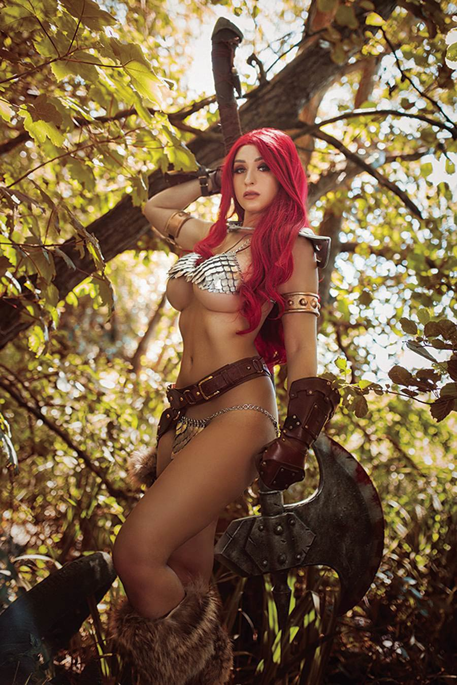 Red Sonja The Superpowers #1 Cover S Incentive Tabitha Lyons Cosplay Photo Virgin Cover