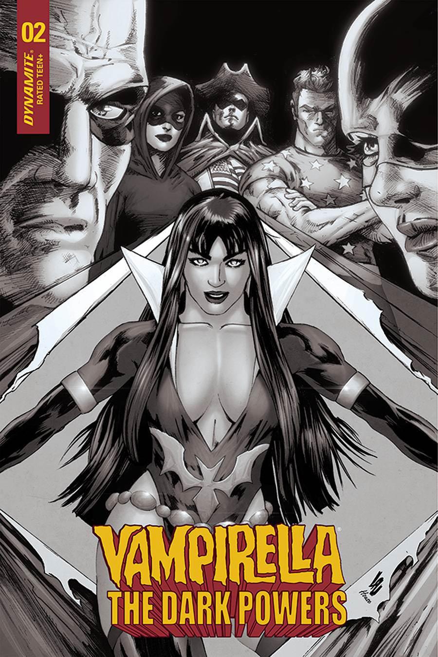 Vampirella The Dark Powers #2 Cover I Incentive Jonathan Lau Black & White Cover