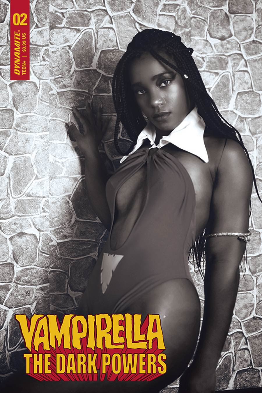 Vampirella The Dark Powers #2 Cover J Incentive Vanta Black Cosplay Photo Black & White Cover