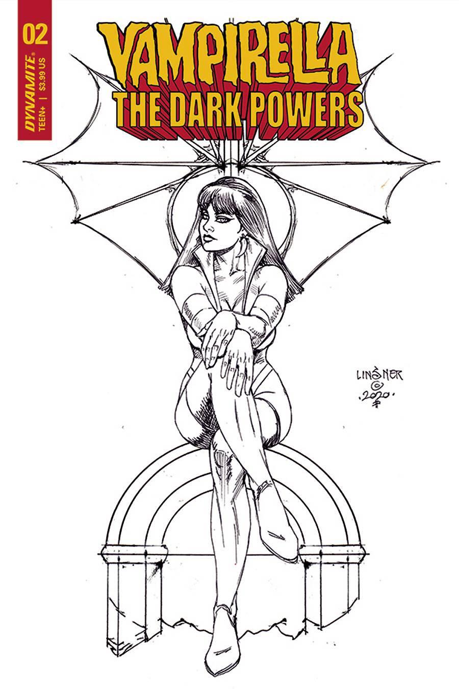 Vampirella The Dark Powers #2 Cover L Incentive Joseph Michael Linsner Black & White Cover
