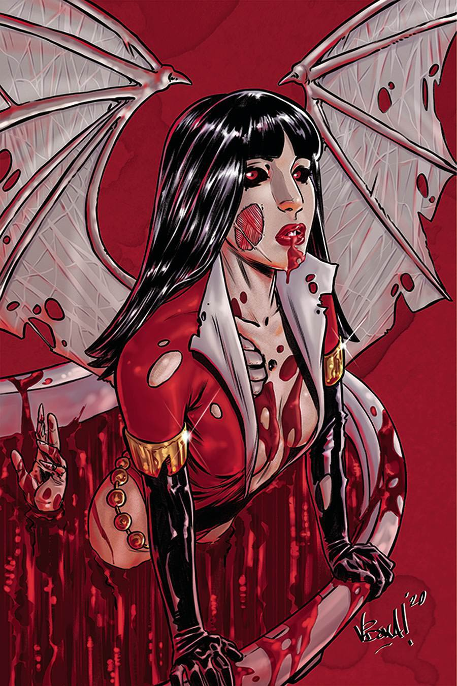 Vampirella The Dark Powers #2 Cover N Incentive Vincenzo Federici Zombie Virgin Variant Cover