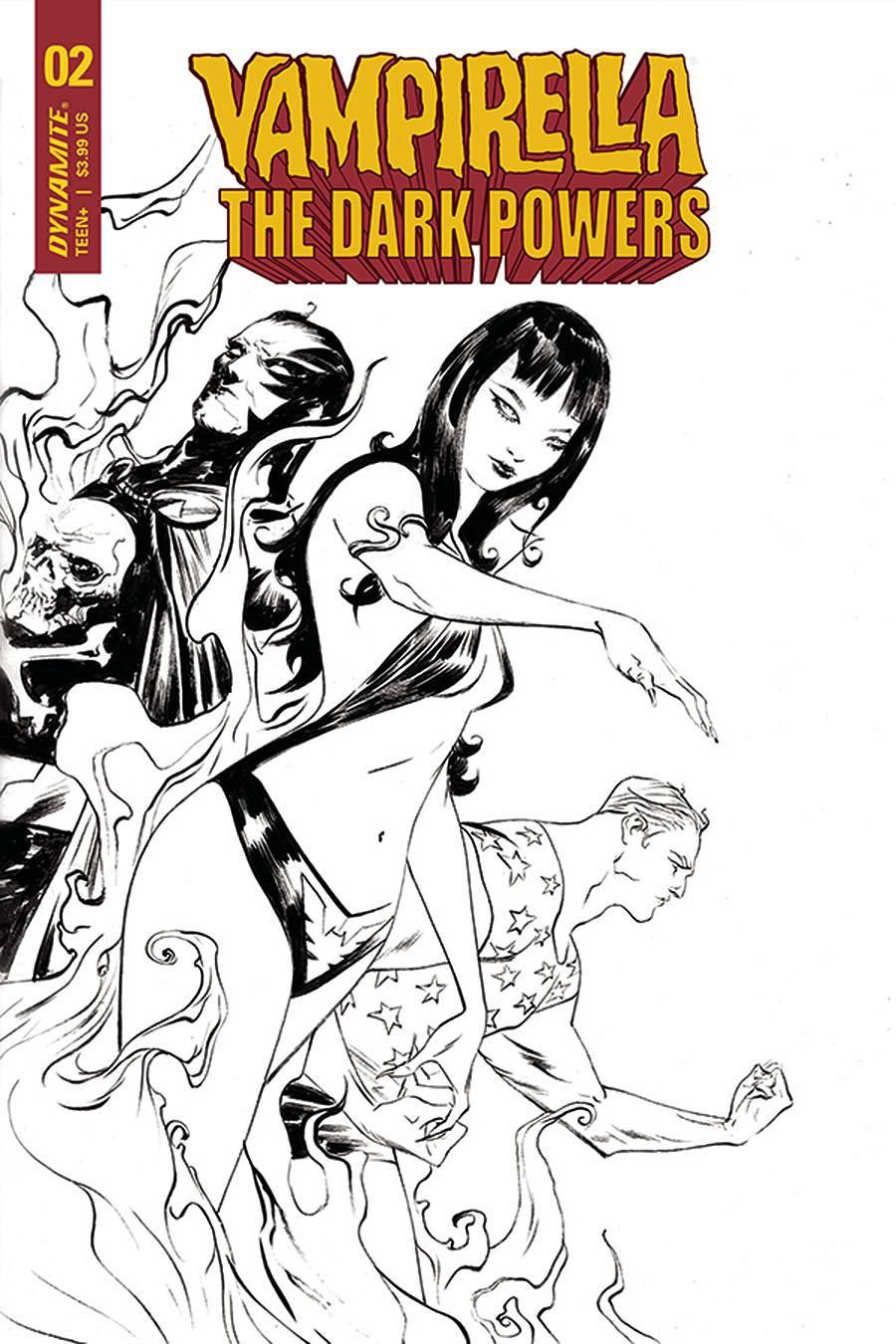 Vampirella The Dark Powers #2 Cover S Incentive Jae Lee Black & White Cover