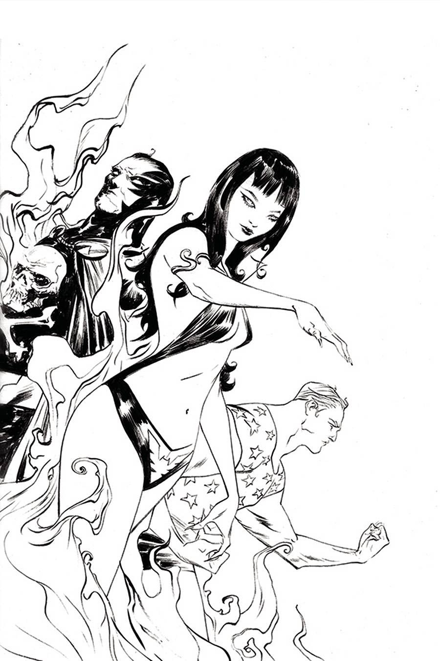 Vampirella The Dark Powers #2 Cover U Incentive Jae Lee Black & White Virgin Cover