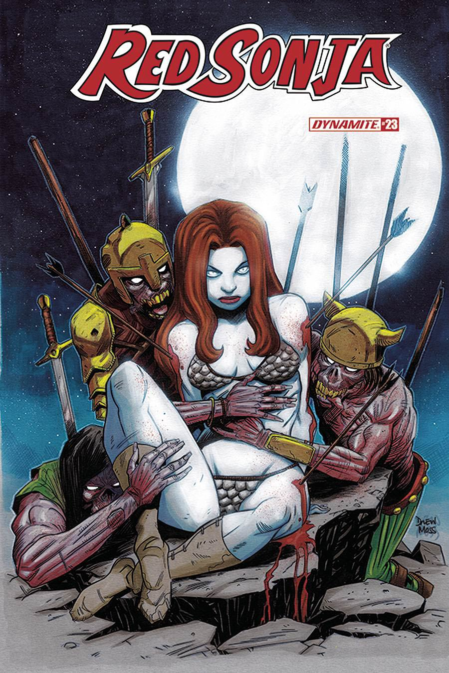 Red Sonja Vol 8 #23 Cover G Incentive Drew Moss Zombie Variant Cover