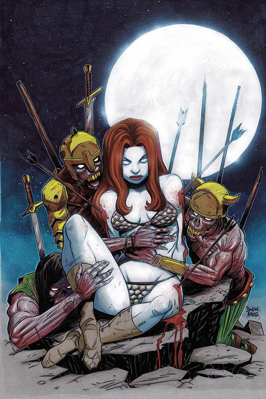 Red Sonja Vol 8 #23 Cover H Incentive Drew Moss Zombie Virgin Variant Cover