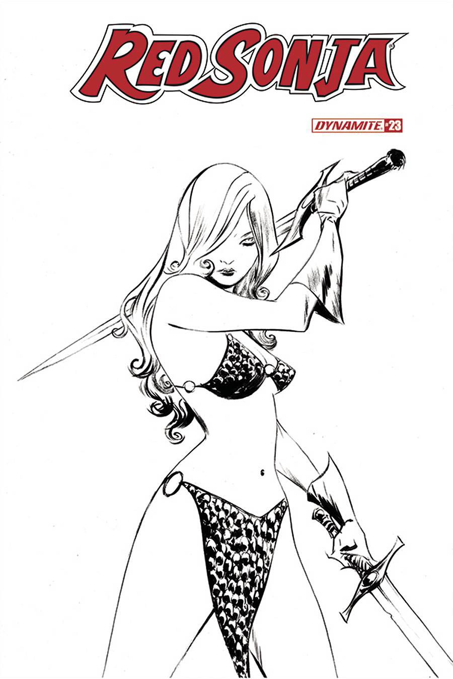 Red Sonja Vol 8 #23 Cover L Incentive Jae Lee Black & White Cover