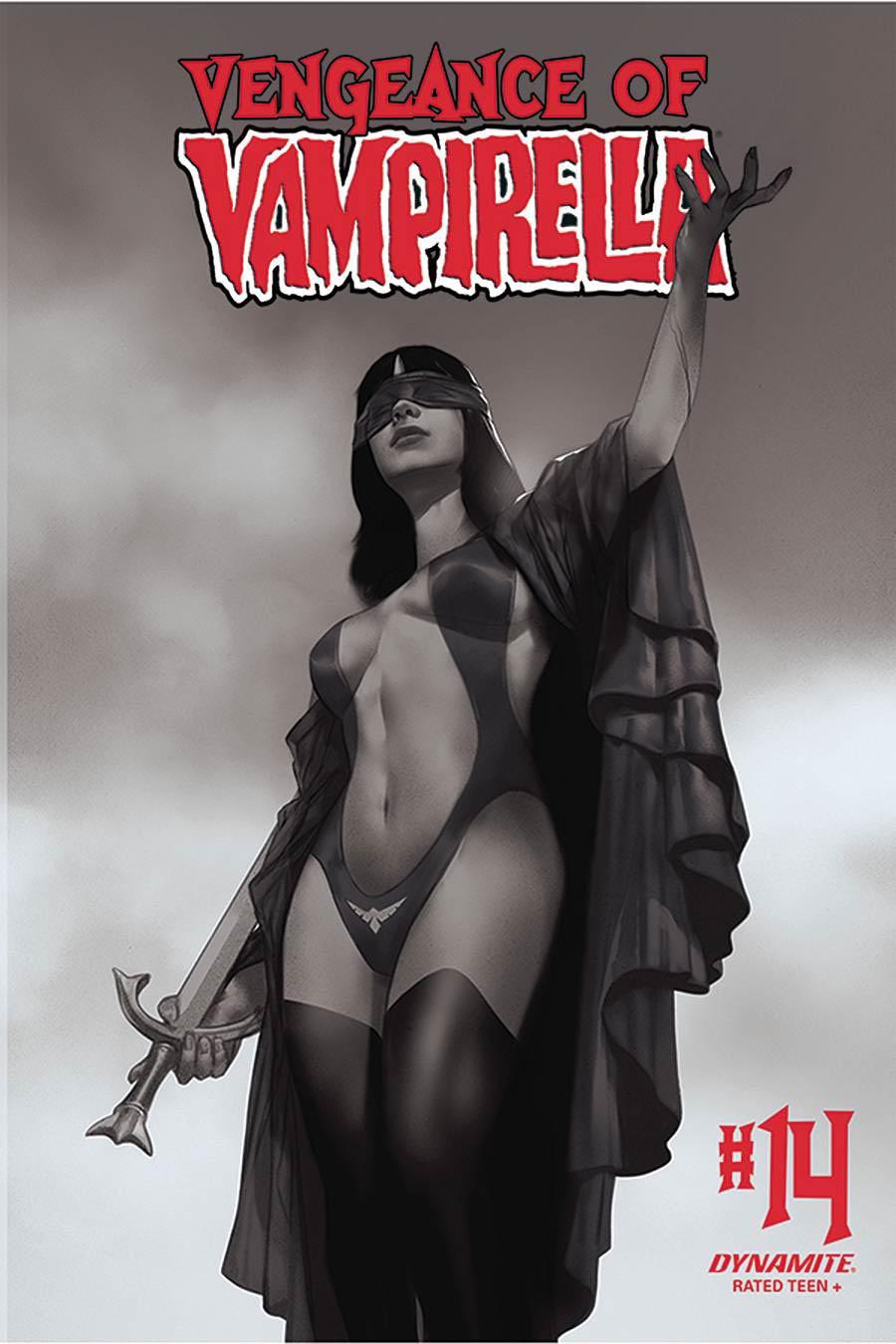 Vengeance Of Vampirella Vol 2 #14 Cover L Incentive Ben Oliver Black & White Cover