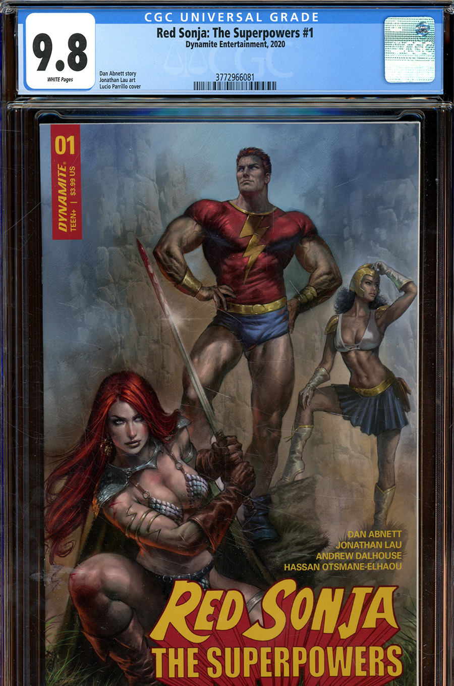 Red Sonja The Superpowers #1 Cover Z-F Regular Lucio Parrillo Cover CGC Graded