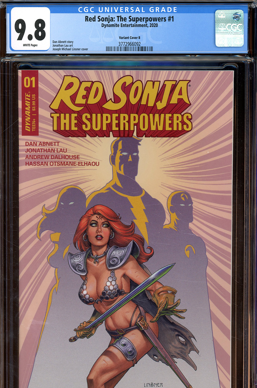 Red Sonja The Superpowers #1 Cover Z-G Variant Joseph Michael Linsner Cover CGC Graded