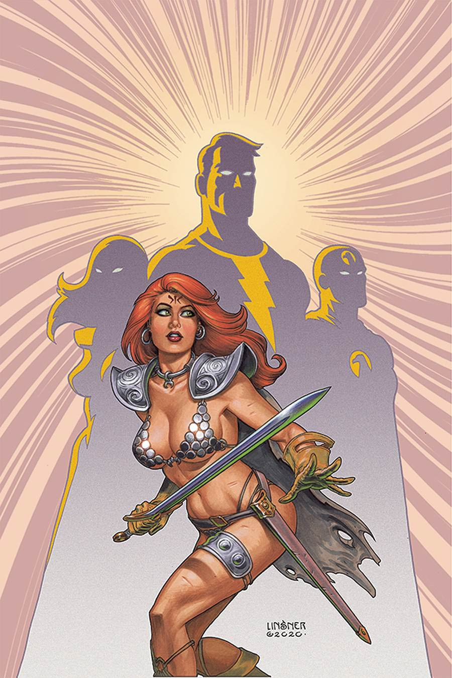Red Sonja The Superpowers #1 Cover X Limited Edition Joseph Michael Linsner Virgin Cover