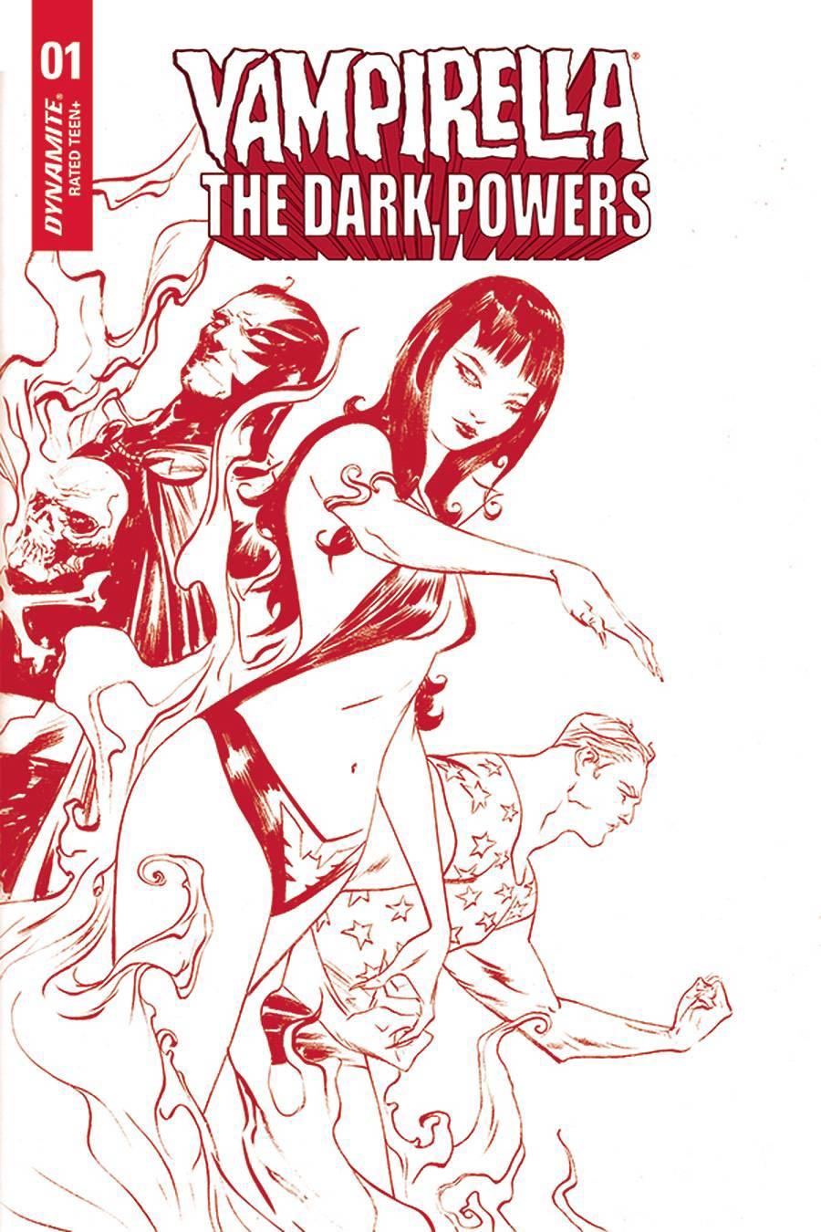 Vampirella The Dark Powers #2 Cover Y Ultra-Premium Limited Edition Jae Lee Crimson Red Line Art Cover