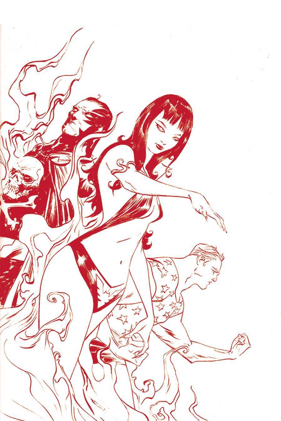 Vampirella The Dark Powers #2 Cover Z Ultra-Premium Limited Edition Jae Lee Crimson Red Line Art Virgin Cover