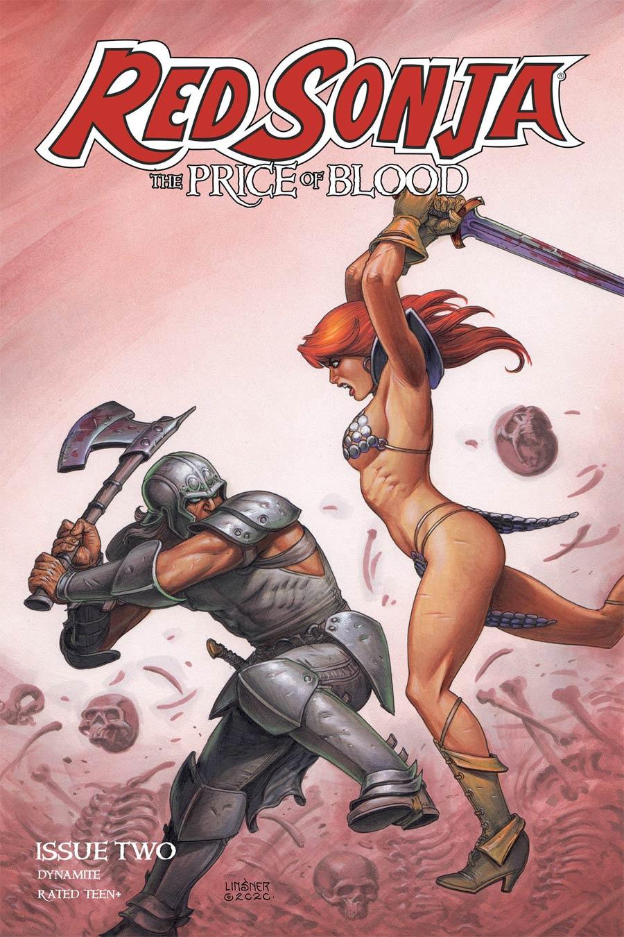 Red Sonja Price Of Blood #2 Cover V Variant Joseph Michael Linsner Cover CGC Graded