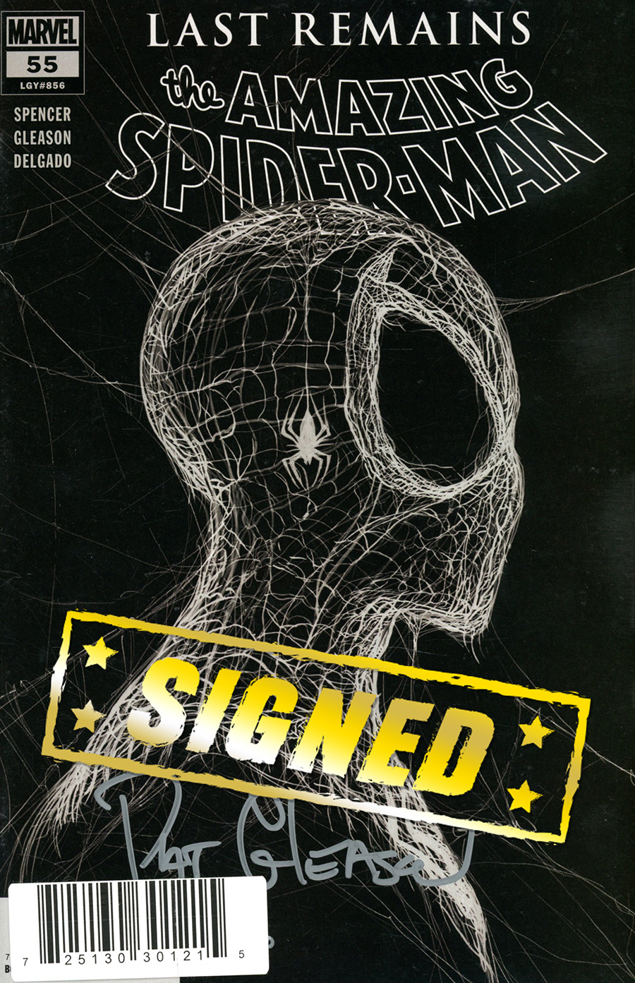 Amazing Spider-Man Vol 5 #55 Cover F DF Silver Symbiote Signature Series Edition Signed By Patrick Gleason