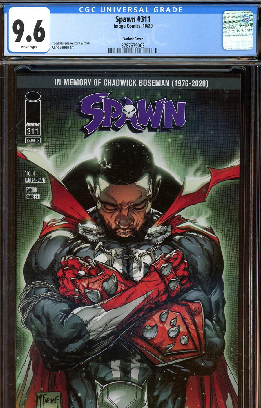 Spawn #311 Cover E DF Todd McFarlane Chadwick Boseman Tribute Cover CGC Graded