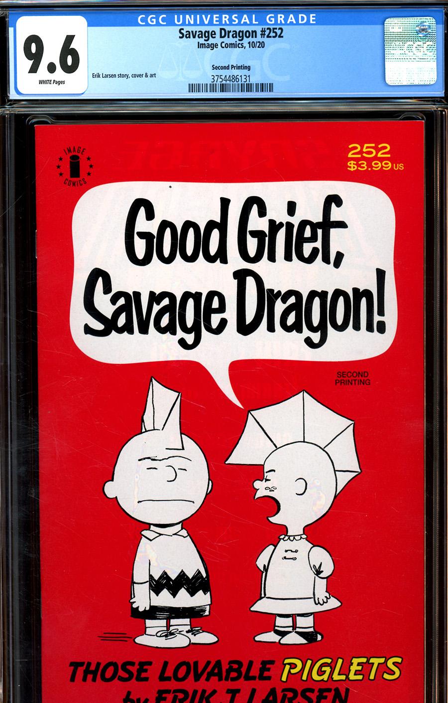 Savage Dragon Vol 2 #252 Cover C DF 2nd Ptg CGC Graded