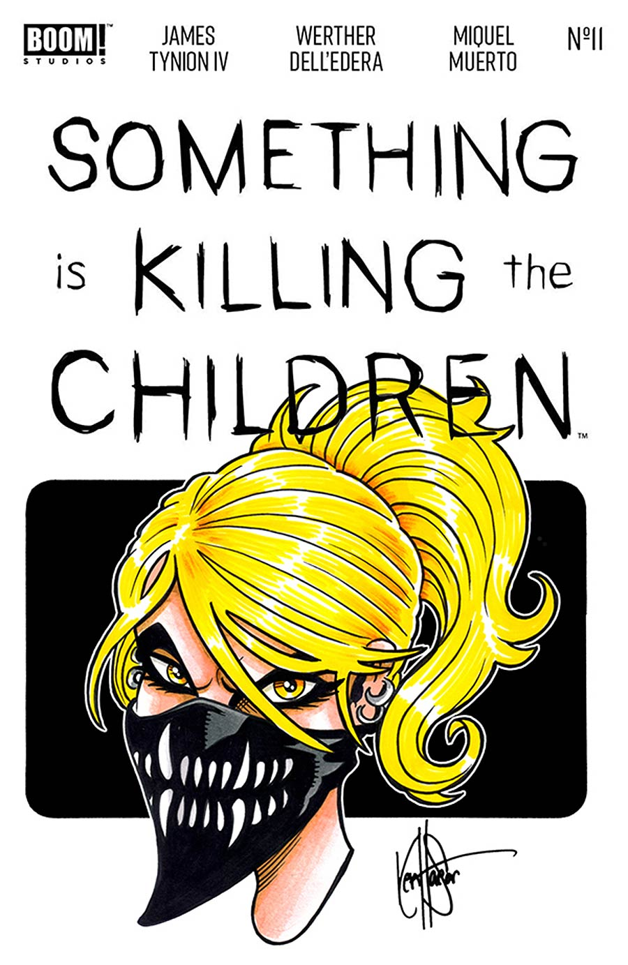 Something Is Killing The Children #11 Cover H DF Erica Slaughter Hand-Drawn Sketch By Ken Haeser