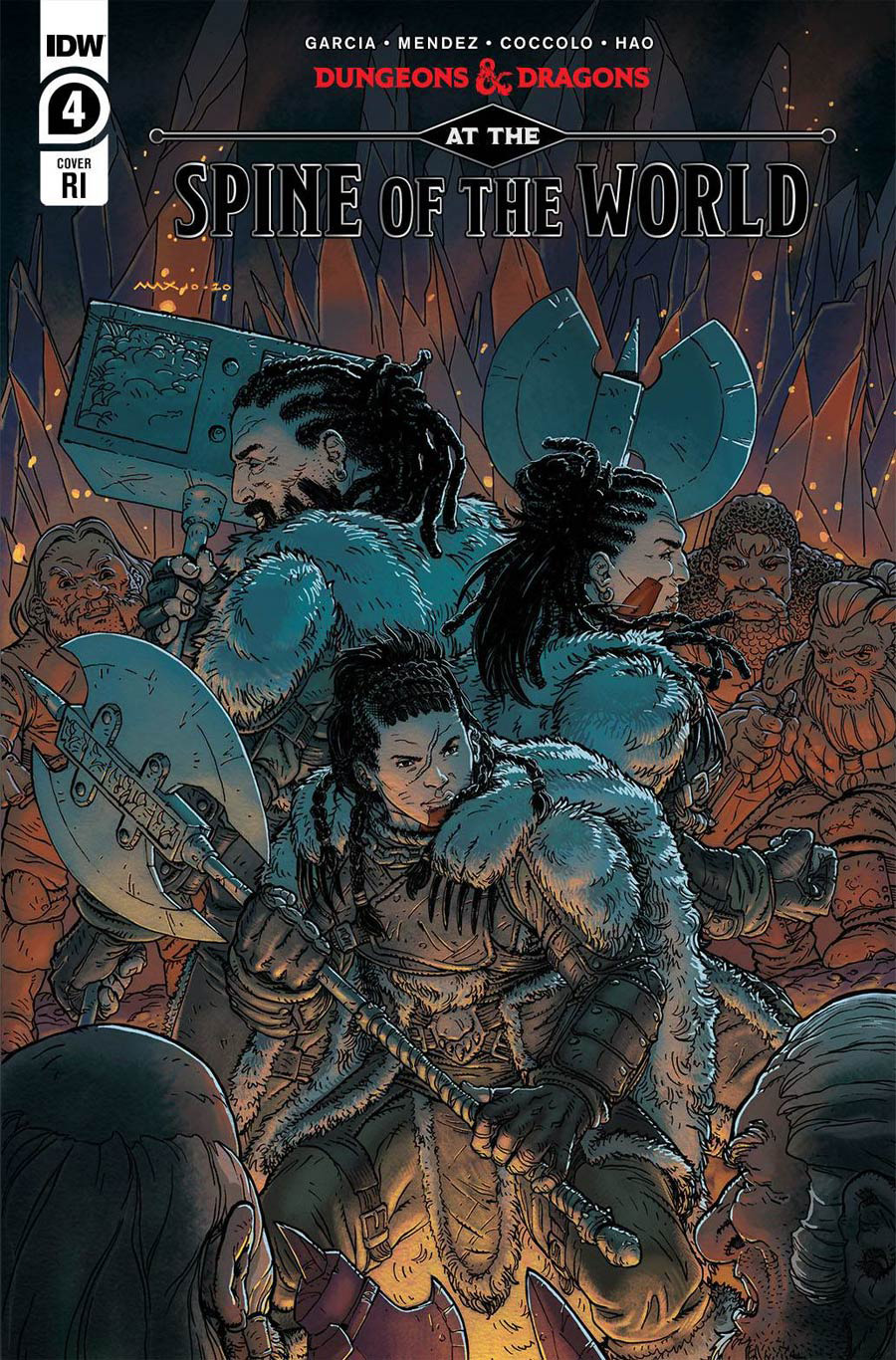 Dungeons & Dragons At The Spine Of The World #4 Cover C Incentive Max Davenport Variant Cover