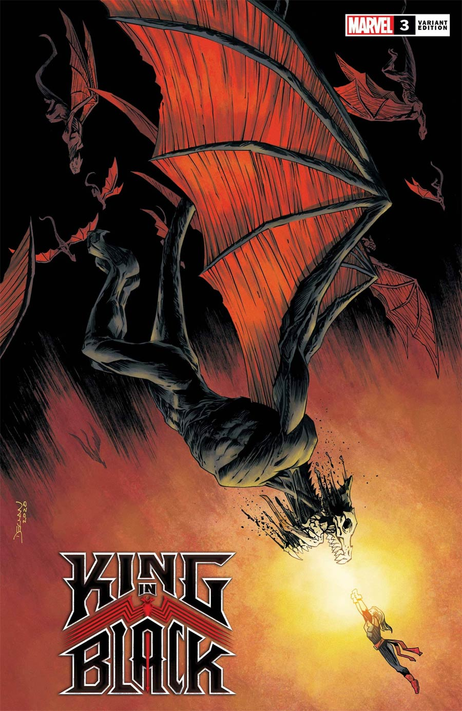 King In Black #3 Cover F Incentive Declan Shalvey Dragon Variant Cover