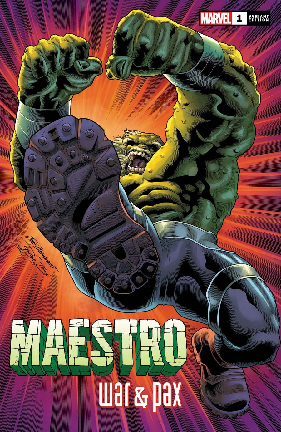 Maestro War And Pax #1 Cover E Incentive Joe Bennett Variant Cover