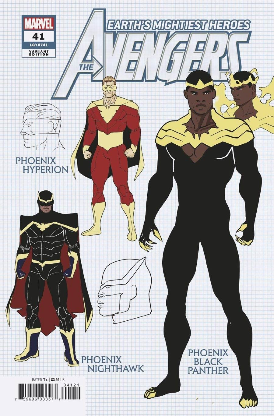 Avengers Vol 7 #41 Cover D Incentive Javier Garron Design Variant Cover