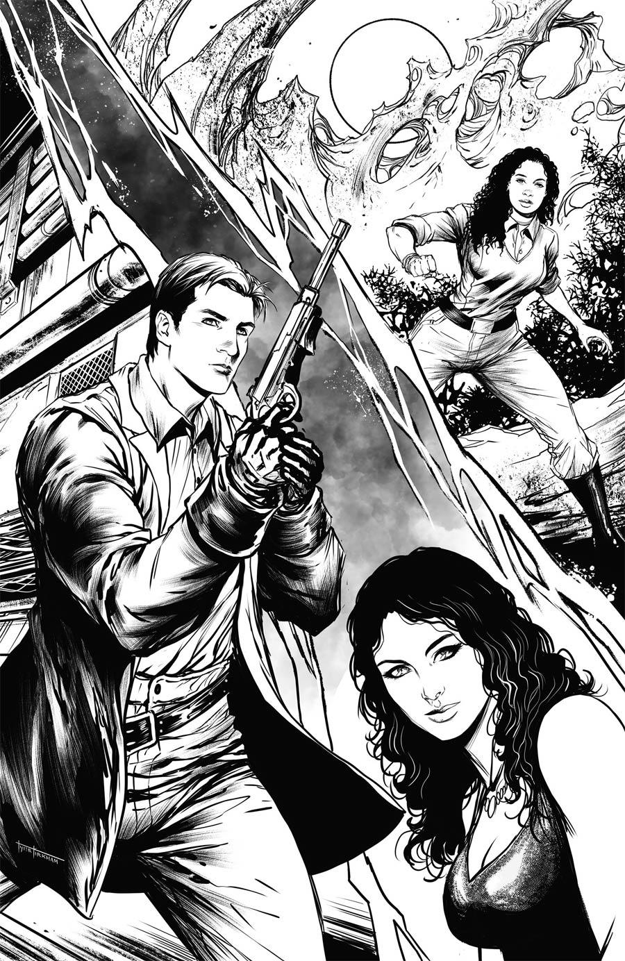 Firefly #25 Cover G Incentive Tyler Kirkham Black & White Cover