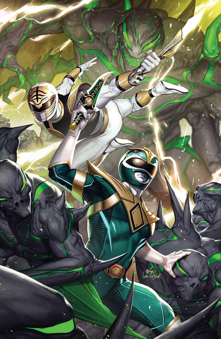 Mighty Morphin #3 Cover D Incentive Inhyuk Lee Virgin Cover