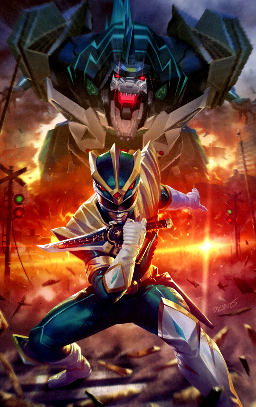 Mighty Morphin #3 Cover H Incentive Derrick Chew Variant Cover