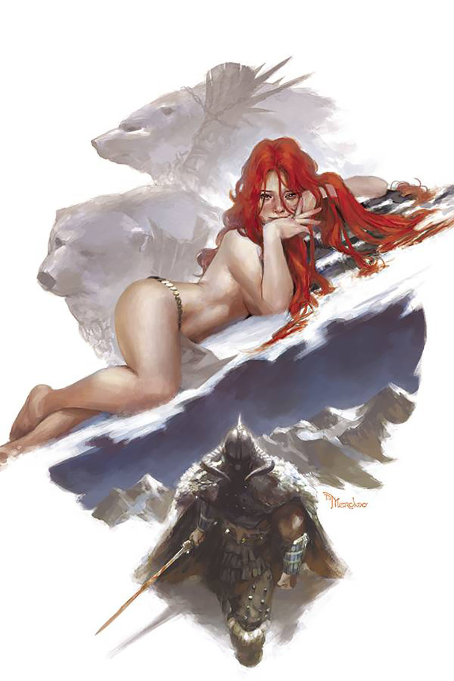 Cimmerian Frost-Giants Daughter #2 Cover E Incentive Miguel Mercado Virgin Cover