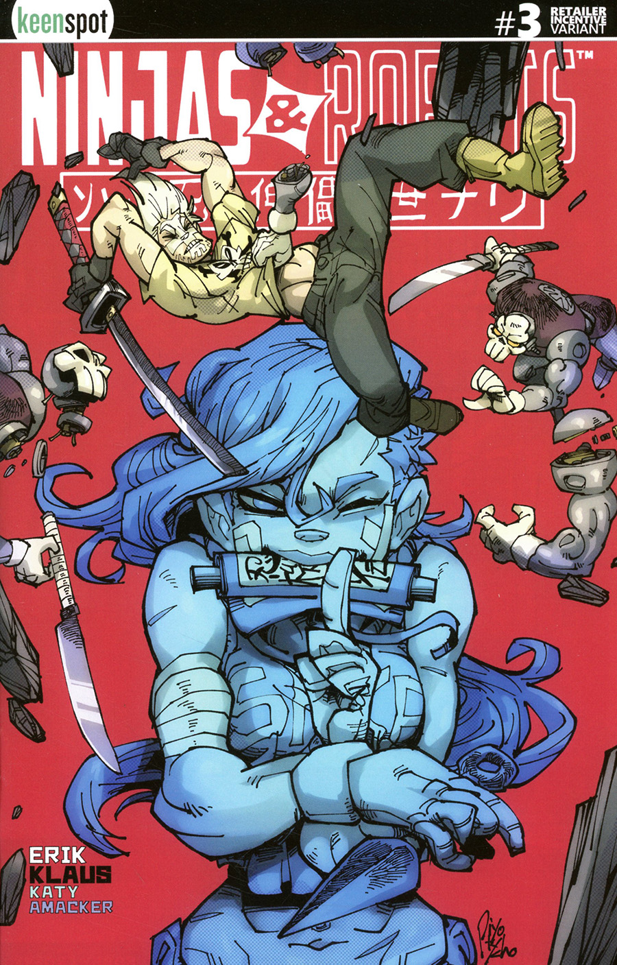 Ninjas And Robots #3 Cover D Incentive Hirano Piyotycho Variant Cover