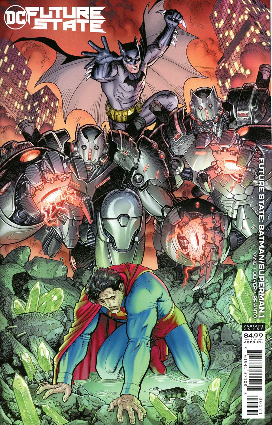Future State Batman Superman #1 Cover B Variant Arthur Adams Card Stock Cover (Limit 1 Per Customer)