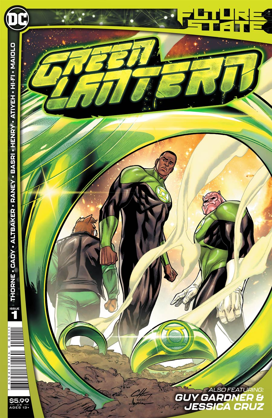 Future State Green Lantern #1 Cover A Regular Clayton Henry Cover