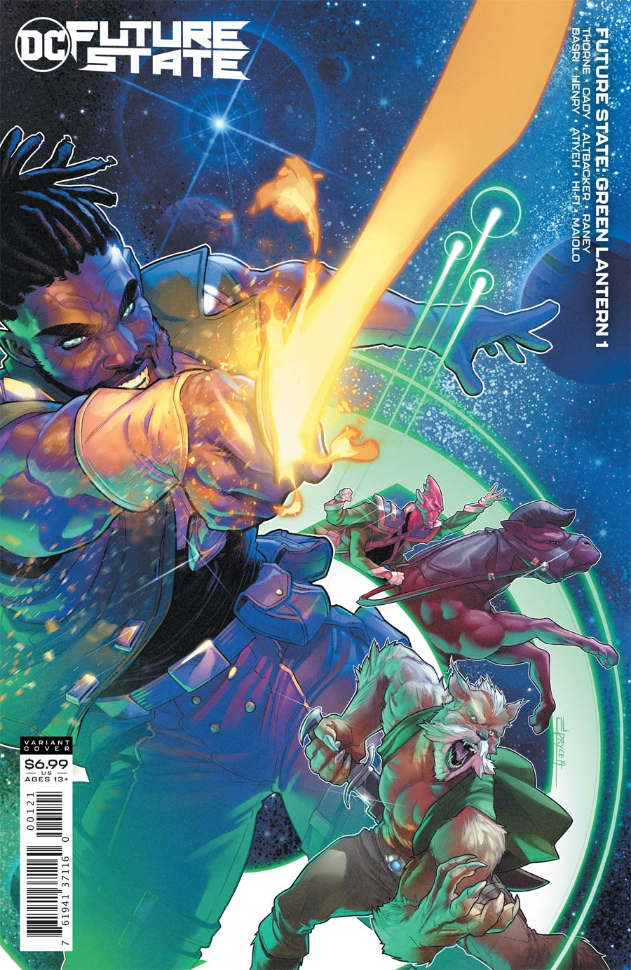 Future State Green Lantern #1 Cover B Variant Jamal Campbell Card Stock Cover