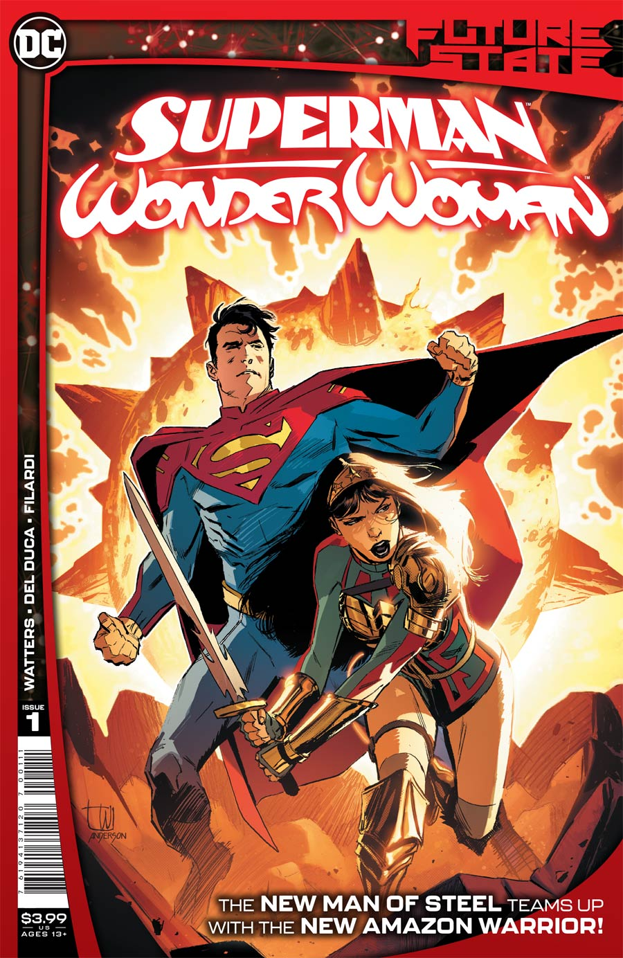 Future State Superman Wonder Woman #1 Cover A Regular Lee Weeks Cover