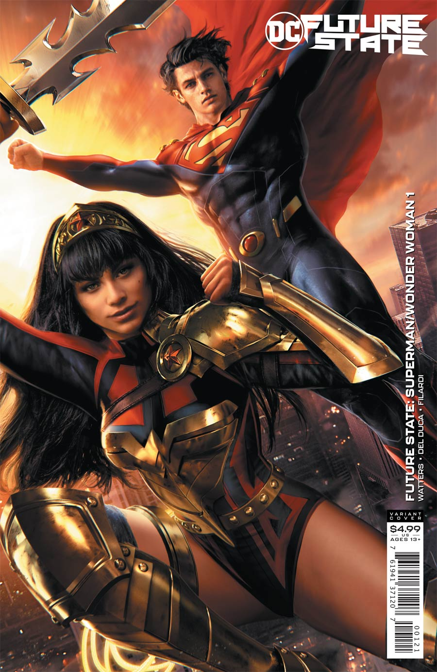 Future State Superman Wonder Woman #1 Cover B Variant Jeremy Roberts Card Stock Cover
