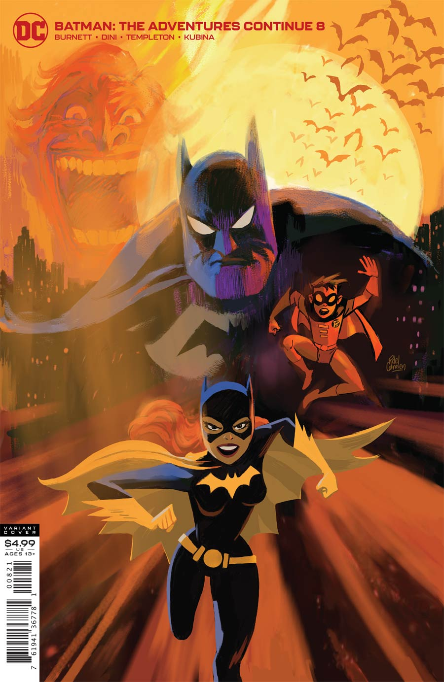 Batman The Adventures Continue #8 Cover B Variant Ronnie Del Carmen Cover (Limit 1 Per Customer)