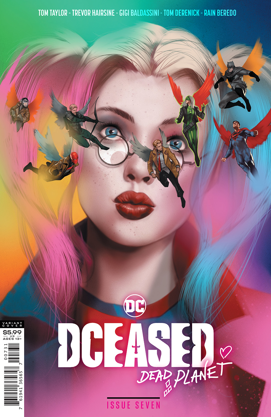 DCeased Dead Planet #7 Cover C Variant Ben Oliver Movie Homage Card Stock Cover