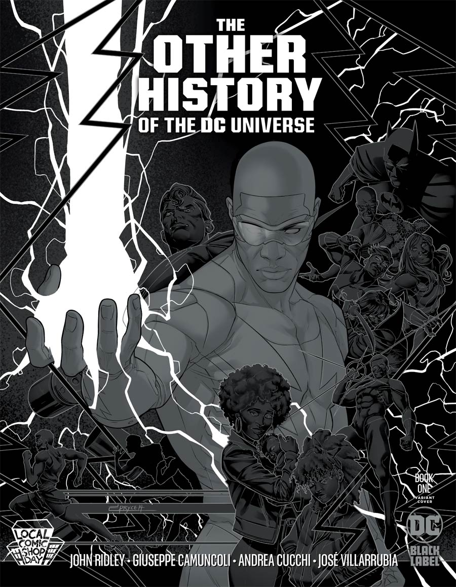 Other History Of The DC Universe #1 Cover D LCSD Jamal Campbell Silver Metallic Ink Cover