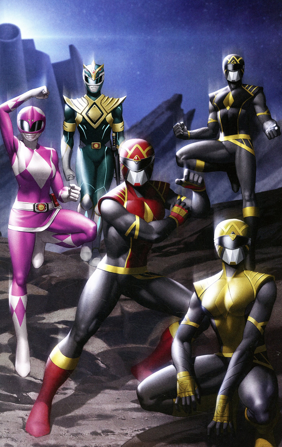 Mighty Morphin #1 Cover J Incentive Thank You Variant Cover