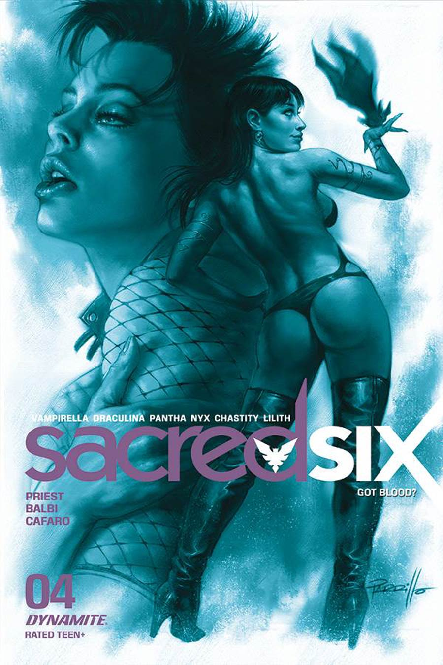 Sacred Six #4 Cover M Incentive Lucio Parrillo Tint Cover