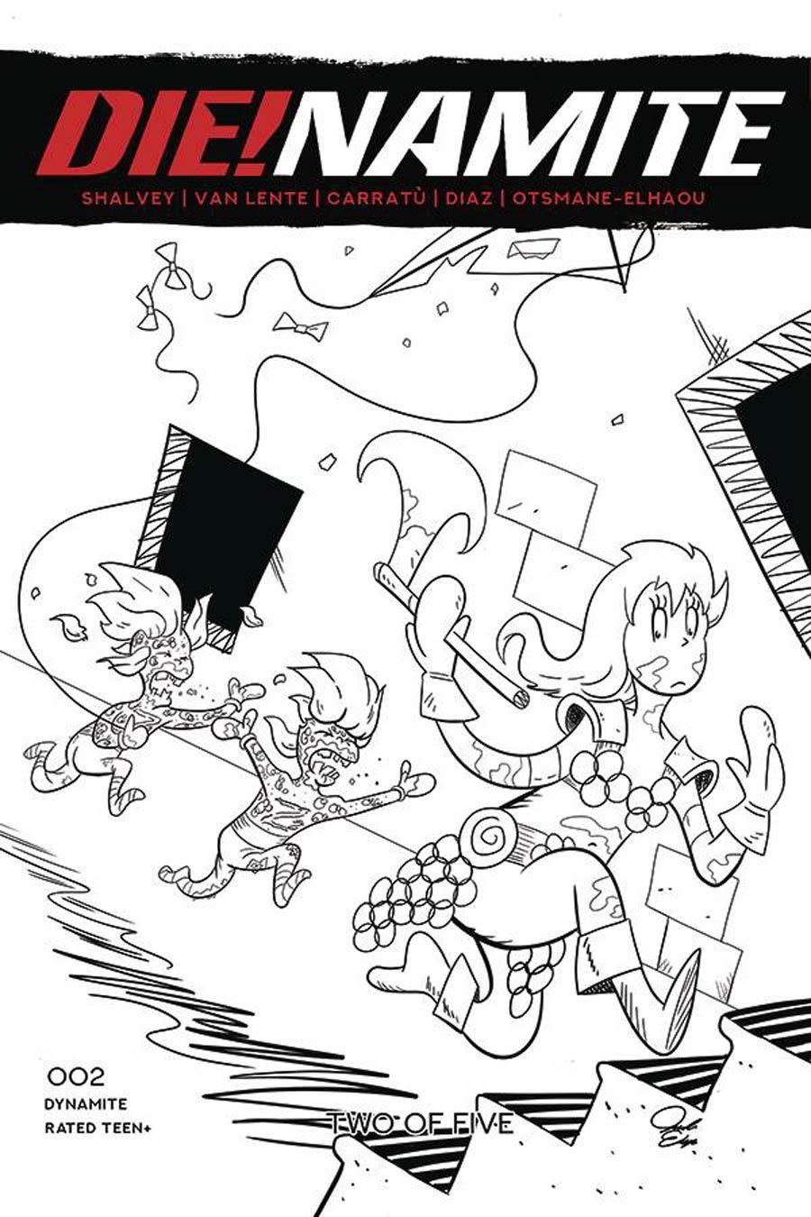 DieNamite #2 Cover J Incentive Jacob Edgar Dr Seuss Red Sonja Homage Line Art Cover
