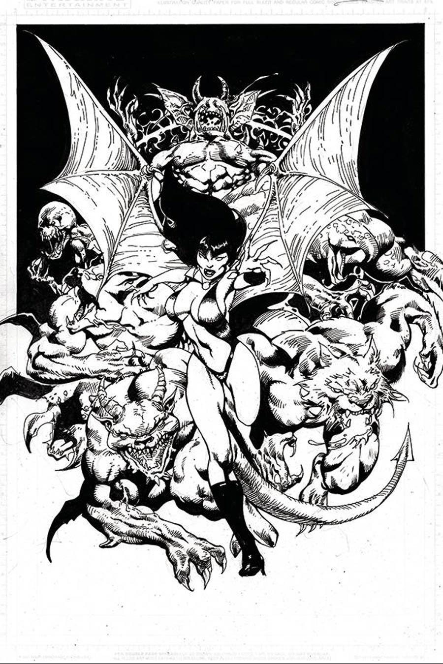 Vengeance Of Vampirella Vol 2 #12 Cover J Incentive Roberto Castro Black & White Virgin Cover