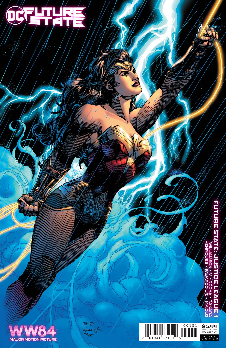 Future State Justice League #1 Cover C Variant Jim Lee Wonder Woman 1984 Card Stock Cover