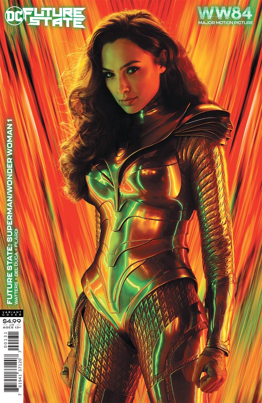 Future State Superman Wonder Woman #1 Cover C Variant Wonder Woman 1984 Movie Poster Card Stock Cover